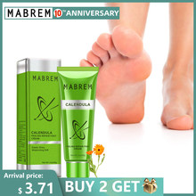 Mabrem Foot Treatment Cream Whitening Anti Retak Pelembab Perawatan Kaki Exfoliating Scrub Anti Kering Calendula Olive Perbaikan 40G(China)
