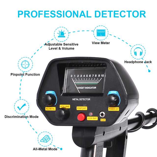 Professional Underground Metal Detector MD-4080 Gold Ground Metal Detector  Nugget High Sensitivity Sliver Finder Pinpointer 2