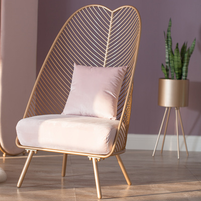 Light Luxury Nordic Single Small Sofa Net Red Section Ins Style Bedroom Living Room Simple American Balcony Iron Chair