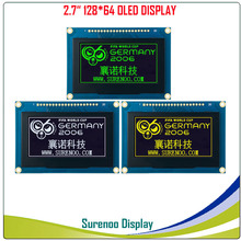 "Real OLED Display, 2.7"" 128*64 12864 Graphic LCD Module Display Screen LCM Screen SSD1325 Controller Support Parallel SPI"
