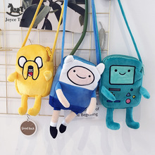 Hot Sale Finn & Jake Figure Crossbody Bag Swag Rap Plush Coin Bag Phone Bag Anime Advanture Robert BMO Bag Toys For Children