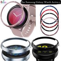 Metall Fall Lünette Ring Abdeckung Für Samsung Galaxy Uhr Aktive 2 44mm 40mm Smartwatch Zifferblatt Klebstoff Anti Scratch schutz Shell