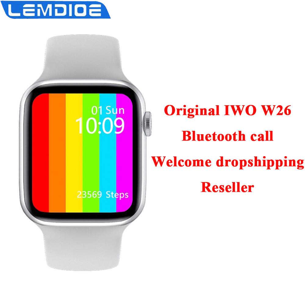 Smartwatch IWO W26 PK IWO 12 Pro IWO 13 montre intelligente hommes femmes 1.75 pouces IP68 étanche température corporelle Bluetooth appel ECG