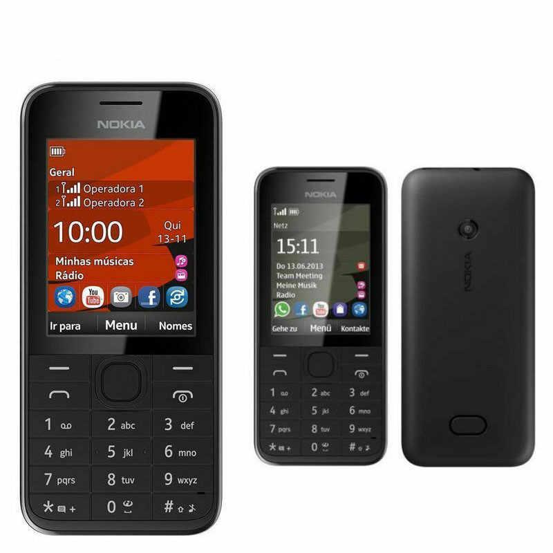 Używany telefon komórkowy Nokia 208 Dual Sim wersja GSM odblokowany telefon komórkowy