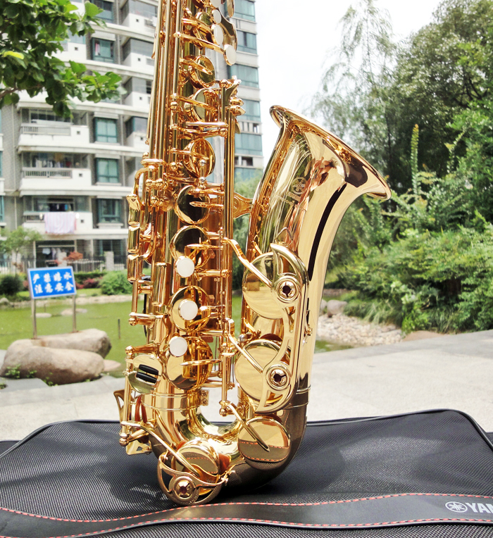 Made In Japan 380 Professional Alto Drop E Saxophone Gold Alto Saxophone With Band Mouth Piece Reed Aglet More Package Mail