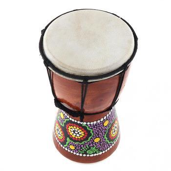 4 Cal profesjonalny afrykański bęben Djembe drewno koza skóra dobry dźwięk Instrument muzyczny tanie i dobre opinie NoEnName_Null Diameter 11cm Height 20cm 10 cal AD_MIA_B18 Kożuch