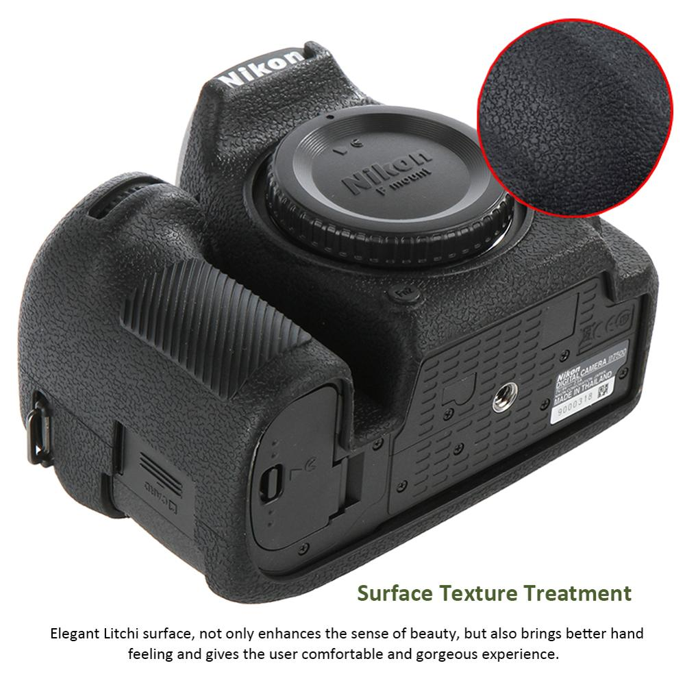 Image 2 - For Nikon Silicone Camera Case Litchi Texture Camera  Protector Cover for Nikon D4 D4S D5 D500 D800 D810 D810a D750 D850 D7500Camera/Video Bags   -