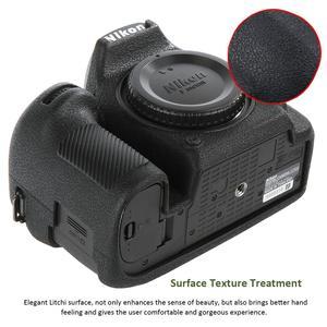 Image 2 - For Nikon Silicone Camera Case Litchi Texture Camera  Protector Cover for Nikon D4 D4S D5 D500 D800 D810 D810a D750 D850 D7500