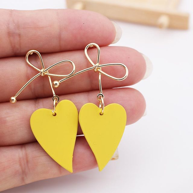 Lovely Heart Metal Earrings  1