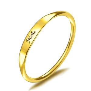 Image 1 - Personalizado 925 prata nome personalizado anel gravado data inicial coordenadas nome delicado empilhável anéis feminino masculino jóias novo