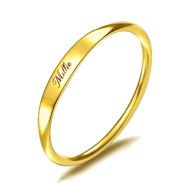 Personalized 925 Silver Custom Name Ring Engraved Initial Date Coordinates Name Delicate Stackable Rings Women Men Jewelry New