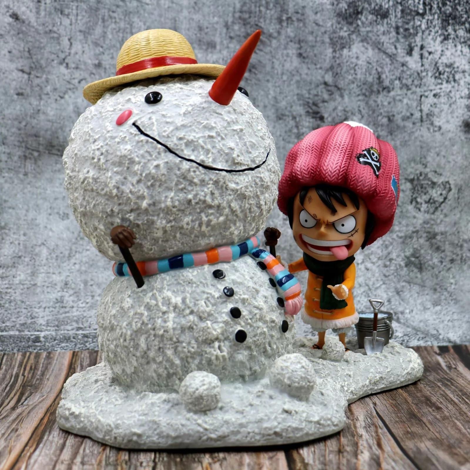 X051 4 m hight Opblaasbare sneeuwpop hoed, opblaasbare Kerst decoratie, opblaasbare sneeuwman met LED Licht - 2
