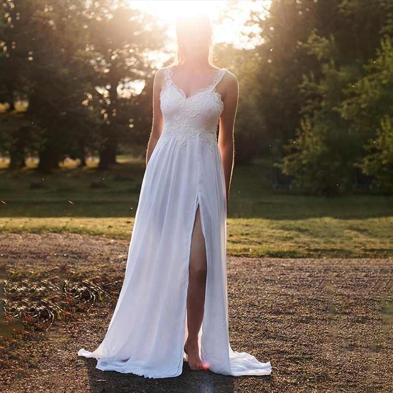 2019 Винтаж беременности и родам Для женщин ТРАПЕЦИЕВИДНОЕ свадебное платье
