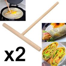 2 шт Т-образная блинница для блинов, распорка теста, деревянная домашняя кухонная опора, упаковка из Великобритании
