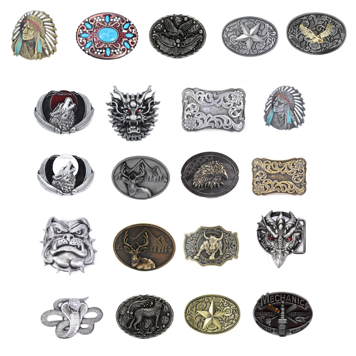 Mens' Belt Buckle Belt Buckle For Men Carpenter Mechanic Cowboy And Cowgirl Metal Tool Western Buckles Marvel