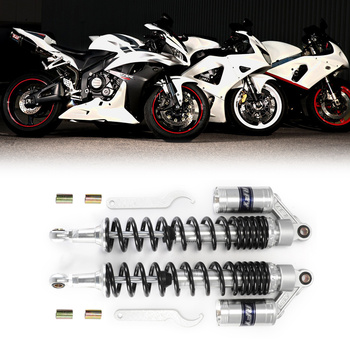 """440mm 17.32"""" 12mm Silver Gas Motorcycle Off-Road Moto Mountain Dirt Bike Rear Front Shock Absorber Suspension Protector D15"""