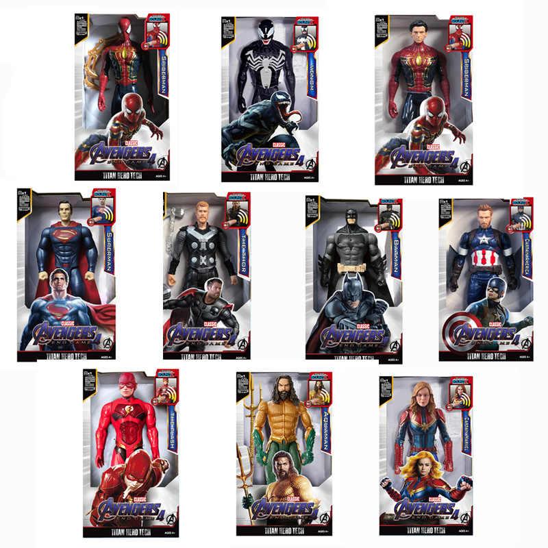 חדש מארוול צעצועי גיבורי משלחת 30CM SuperHero Thor קפטן Aquaman תאנסו וולברין IronMan פעולה איור צעצוע בובות