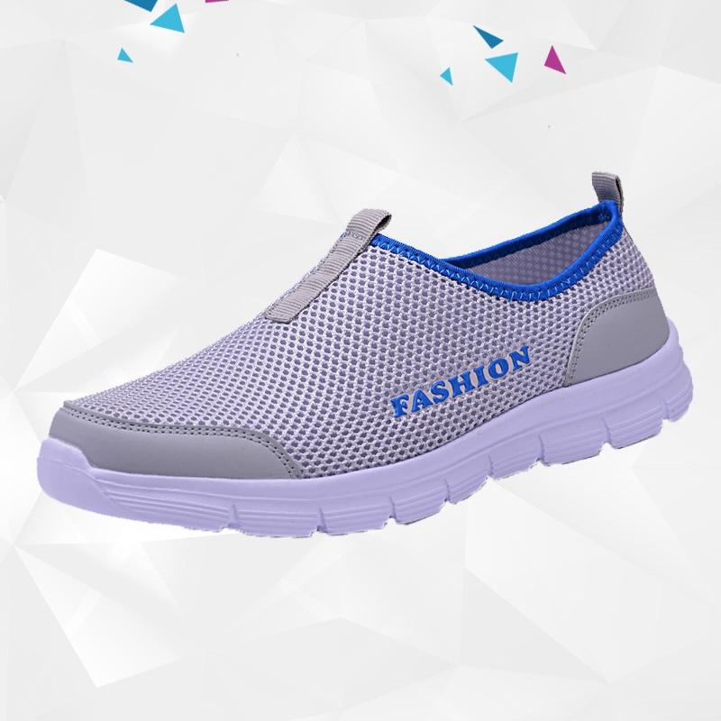 Breathable Mesh Casual Men Shoes Summer Sneakers Men Footwear Running Shoes Men's Lightweight Slip-on Sandals Zapatos De Hombre 3
