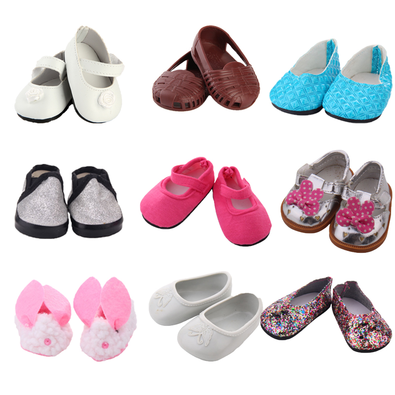 1Pair BJD Plush Winter Snow Boots For 43cm Baby Dolls As For 18 Inch Girl Dolls Mini Shoes For Christmas Gift Toy Socks