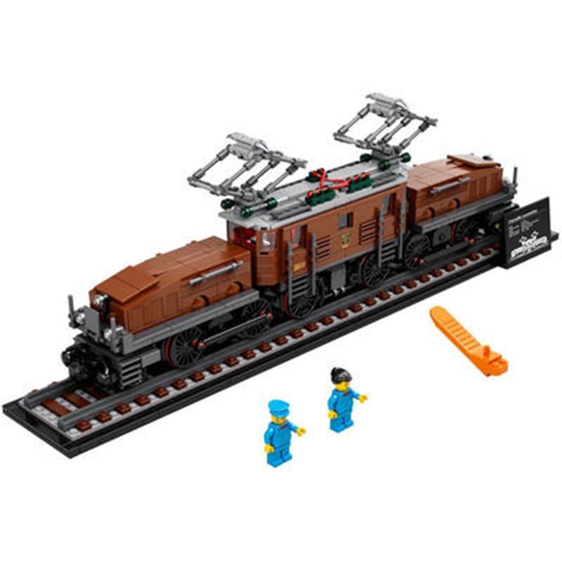 Новый в наличии 1271 шт. крокодил локомотив мс конструкторных блоков, Детские кубики, Скоростной пассажирский поезд, обучающие игрушки для де...