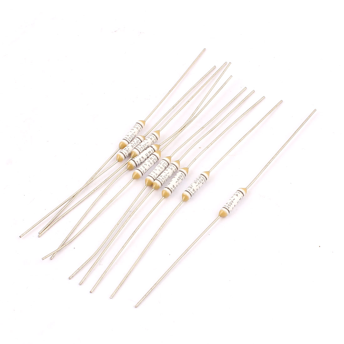 uxcell Thermal Fuse 250V 2A 150 Celsius Degree Temperature Control Double Leads Electrical Circuit Cutoff 10pcs