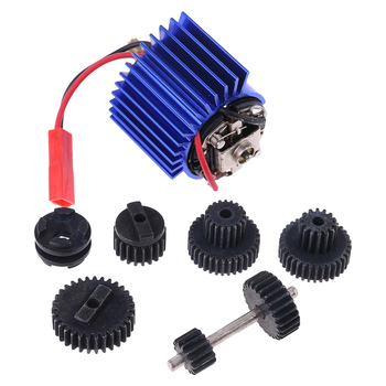 Good Quality New 1 Set Metal Gears With 370 Motor For Speed Change Gear Box For WPL B1 B24 B16 B36 C24 1/16 4WD 6WD RC Car цена 2017