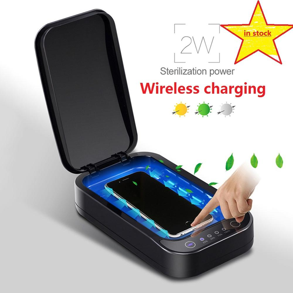 DC5V UV Phone Sterilizer Box Jewelry Phones Cleaner Personal Sanitizer Disinfection Box With Aromatherapy Esterilizador