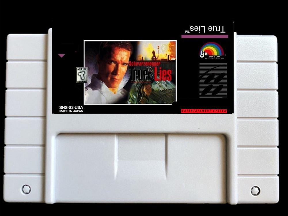 True lies  USA- NTSC version  46 pins  games card for Retro Video games Console !