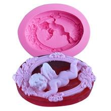 Silicone Mold Angel Polymer-Clay Baby Crafts Sugar-Decoration Fondant-Baking-Tools