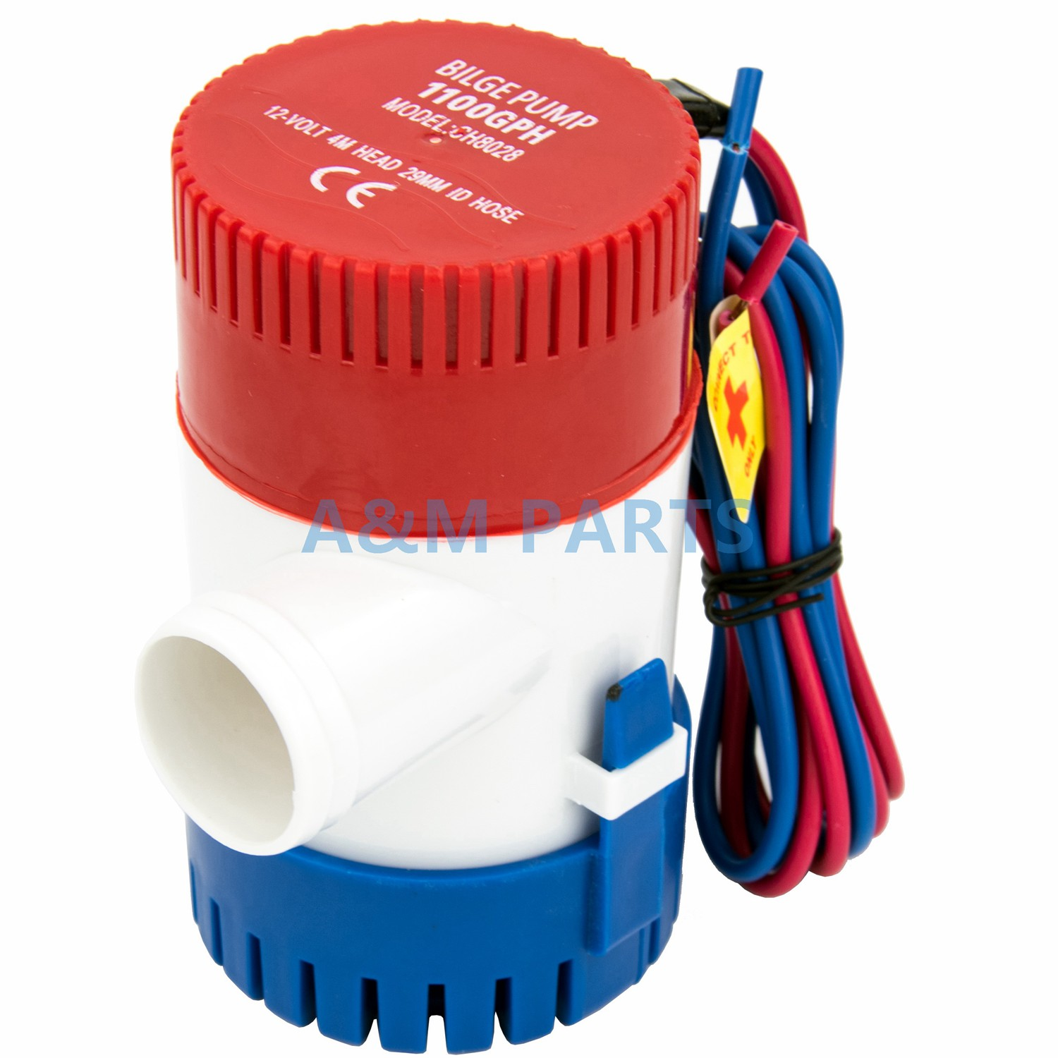 12V <font><b>1100</b></font> <font><b>GPH</b></font> Boat/Marine <font><b>Bilge</b></font> <font><b>Pump</b></font> Submersible Water <font><b>Pump</b></font> for Yacht image