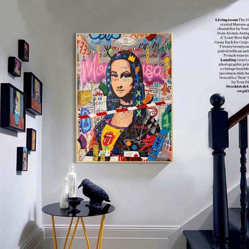 Affiche Mona Lisa pop art 2 Affiches et imprim s de style Graffiti Mona Lisa pour d coration int rieure