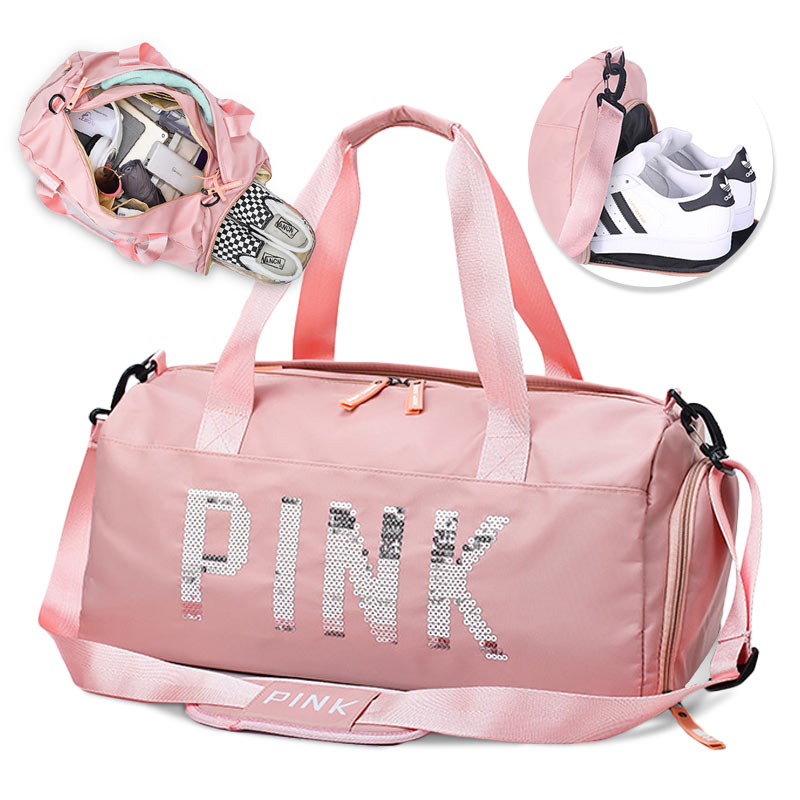 New Upgrade Shoe Compartment Gym Bag Multifunction Black Pink Women Fitness Training Sac De Sport Yoga Waterproof Travel Handbag