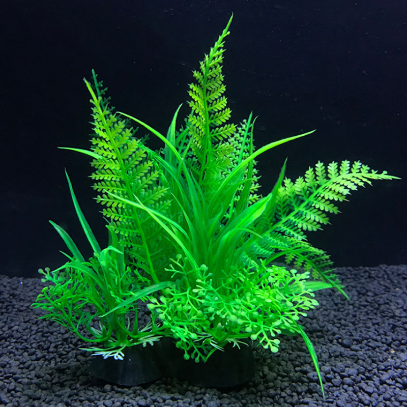 12 Kinds Artificial Aquarium Decor Plants Water Weeds Ornament Aquatic Plant Fish Tank Grass Decoration Accessories 14cm(China)