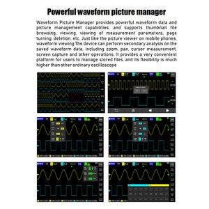 Image 4 - Neue! ADS1013D 2 Kanäle 100MHz Bandbreite 1GSa/s Abtastrate Oszilloskop mit Farbe TFT Berühren Bildschirm Digitale Oszilloskop