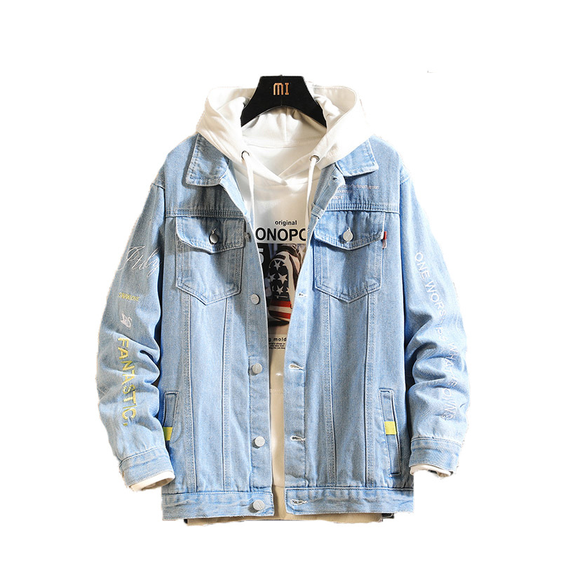 2020 Newly Fashion Designer Men Jackets British Classical Casual Denim Jackets Men Streetwear Embroidery Hip Hop Chaqueta Hombre