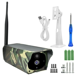 Intelligent Surveillance Camera Solar Power Wifi IP Camera Wireless Outdoor Indoor Waterproof HD 1080P Night Vision APP Remote M