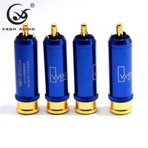 Image 1 - XSSH AUDIO 8pcs Free shipping 0110Cu nextgen signature RCA 2 sets of 8 pieces copper high end connector Male Plug
