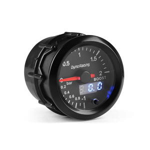 Image 5 - Dynoracing 2 52mm Dual Display 2BAR Turbo Boost gauge 7 colors Led Boost meter with Stepper Motor Car meter BX101496