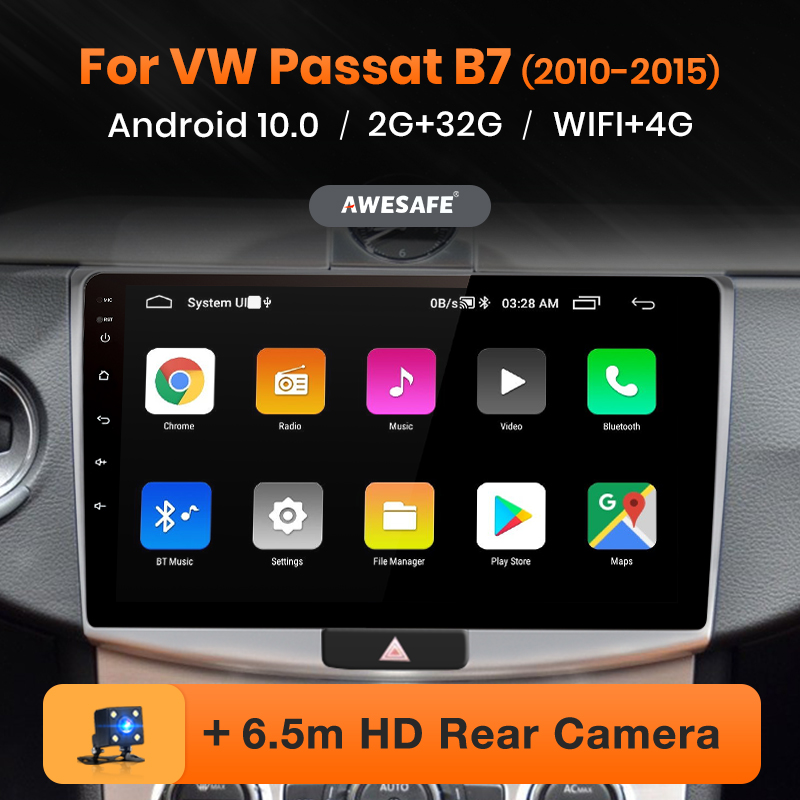AWESAFE PX9 para VW para Volkswagen Passat B7 2010-2015 auto Radio Multimedia reproductor de video GPS No 2 din Android 10 2GB + 32GB