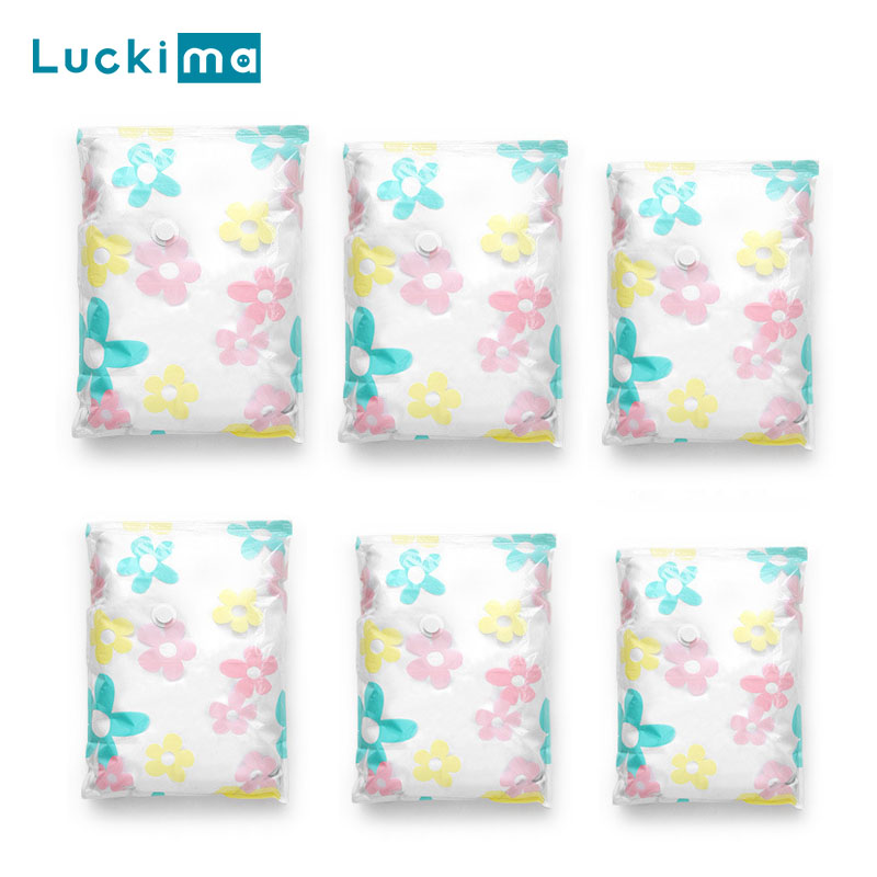 Home Travel Vacuum Storage Bags For Clothes Blankets Comforters Pillows Luggage Space Saver Compression Bags 40-130cm Optional