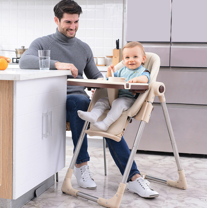 Baby's Dining Chair Multifunctional Children's Foldable Chair, Backres