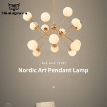 Nordic Personality Ceiling Chandelier Post-modern Luxury Glass LED Chandelier Lighting Restaurant Crystal Kitchen Hanging Lamps american village nordic crystal chandelier modern simple restaurant bedroom led lighting fixture led lamp chandelier lighting