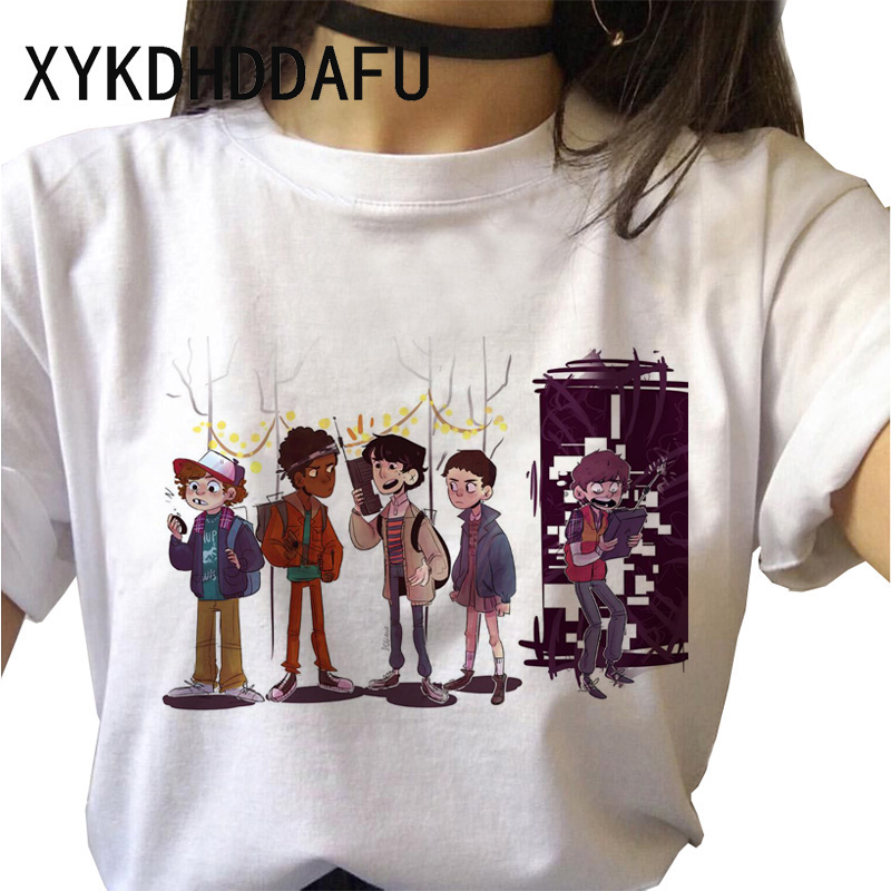 H89d6eef02afe43c29a61b6267f2e57c4e - Stranger Things T Shirt Women Harajuku Eleven Aesthetic Streetwear Clothes Vintage Tshirt Female New Summer T-shirt Top Tee