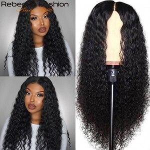 Rebecca vague profonde perruque 13x4 dentelle avant perruques de cheveux humains pour les femmes noires preplumed sans colle brésilien Remy bouclés perruques de cheveux humains