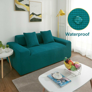 Image 1 - Waterproof Elastic Sofa Covers For Dogs Pets Kids Fleece Anti Slip Couch Slipcovers Armchair Furniture Protector 1 2 3 4 Seater