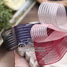 100yards 10 16 25 38mm stitched stripes organza sheer ribbon for hair bow headband accessories bouquet flower packing bow 100yards 10 16 25 40mm stitched stripes organza sheer ribbon for bouquet flower packing bow wedding party craft supplies