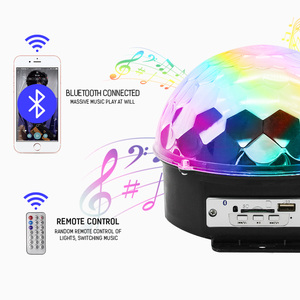 Image 3 - 9 Color RGB LED Disco Ball Light with Bluetooth MP3 Music Player for Home Party DJ Dance Floor Strobe Stage Laser Projector Lamp