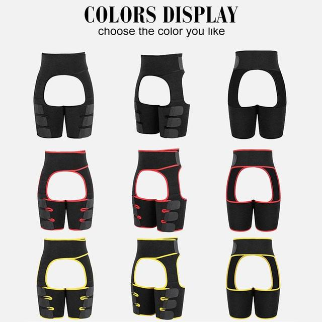 Fahion Women Body Shapers Three-in-one Sports Abdomen Belt Hips Sweat Belt Waistband Bodybuilding Belt Latex Waist Trainer 2