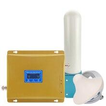 500 متر مربع 2 جرام 3 جرام GSM 900 WCDMA 2100 المزدوج الفرقة موبايل مكرر إشارة الهاتف GSM 3 جرام UMTS الخلوية الداعم مكبر للصوت هوائي