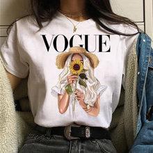 T camisa feminina menina vogue imprimir moda topos camiseta feminina manga curta tshirt oversized harajuku camisas 90s camisetas gráficas